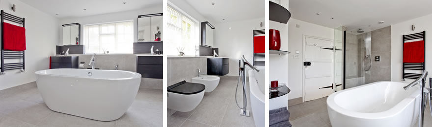 Photos of family bathroom by InStil Design